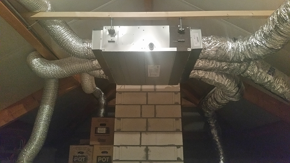 Project woonhuis Herten Toshiba kanaalmodel zolder door Airco4U