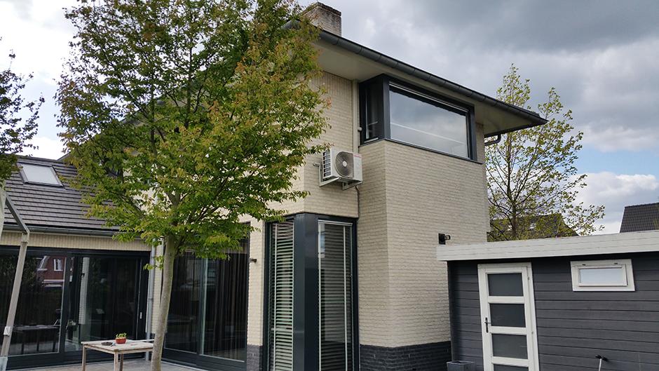 Project woonhuis Herten opstelling buitenunit door Airco4U